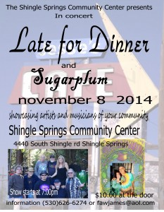 11082014Late for Dinner and Sugar Plum