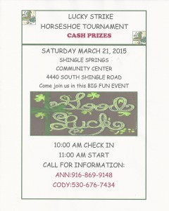 Horse Shoe Tournament03212015